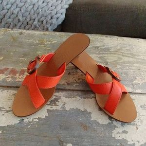 82ccf0eaf96b Ferragamo Shoes - Ferragamo Orange Spring sandals Mules slides 5.5